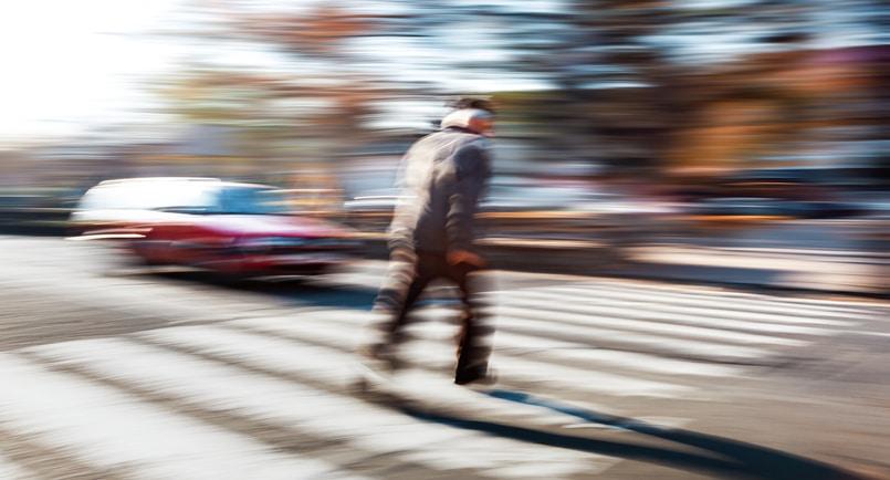 man dies in crosswalk